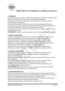 VYBO Electric-Inštalácia a údržba motorov