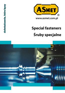 Special fasteners Śruby specjalne
