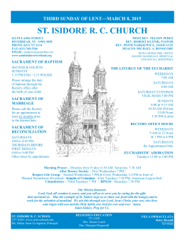 ST. ISIDORE R. C. CHURCH - Saint Isidore RC Church