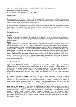 Centrum Zdrowia Psychicznego ul. Mariańska 1, Warszawa, tel. 22