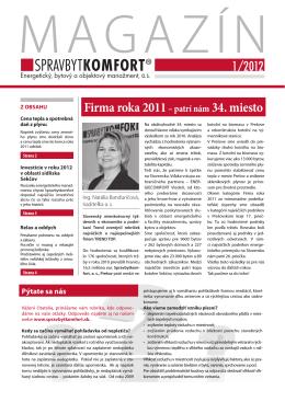 Cena tepla - Spravbytkomfort as Prešov