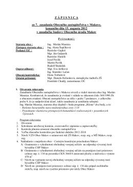 Z Á P I S N I C A zo 7. zasadania Obecného zastupiteľstva v Makove