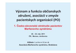 Význam pacientských organizácií