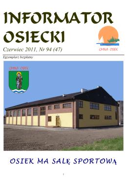 Czerwiec 2011, Nr 94 - Kociewska Gmina Osiek