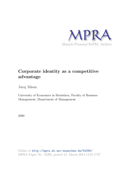 Corporate identity as a competitive advantage