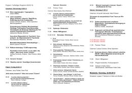 Program - Polsko-Niemieckie Towarzystwo Zdrowia Psychicznego