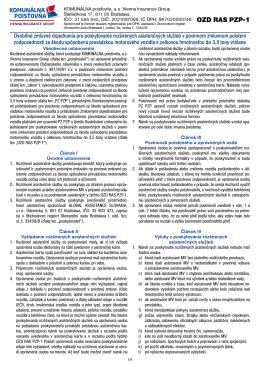 OZD RAS PZP-1 - Komunálna poisťovňa