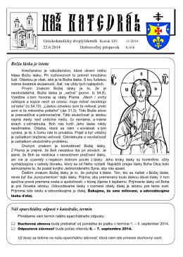 2014-11 - Gréckokatolícka Cirkev: farnosť Košice