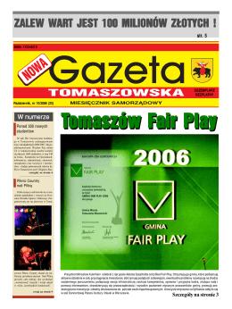 Nowa Gazeta Tomaszowska NR 10/2006 (pdf, 10 MB)