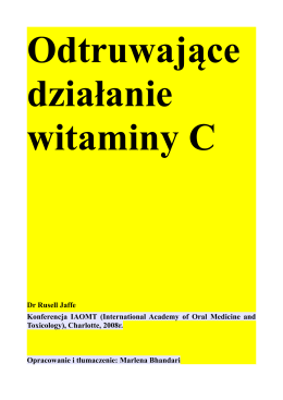 Odtruwające działanie witaminy C