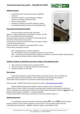 Autonómny kamerový systém – WayCAM 3G 325HD