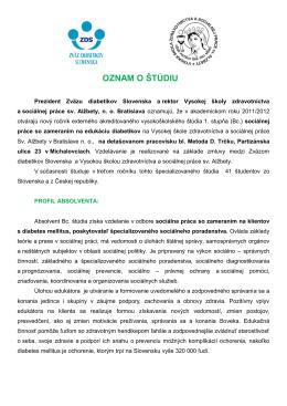 oznam o štúdiu (.pdf formát)