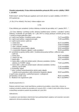 Pripomienky k novele vyhlášky URSO č. 221-2013