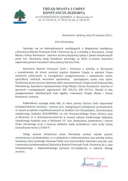urząd miasta i gminy konstancin-jeziorna