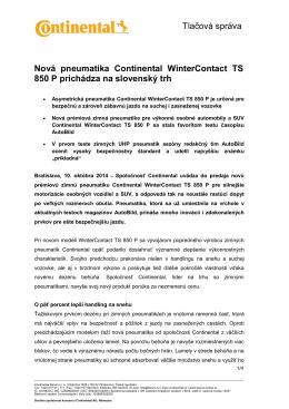 TS_Nová pneumatika Continental WinterContact TS 850