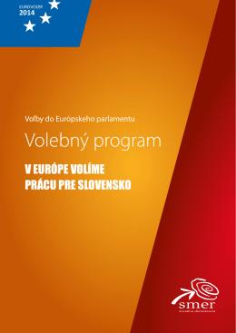 Volebný program strany SMER - SD vo voľbách do Európskeho