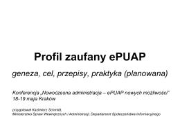 Profil zaufany ePUAP - KONFERENCJA Nowoczesna administracja