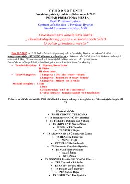 TK Evita Púchov - Centrum voľného času Považská Bystrica