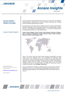 Accace Insights_Accace rozširuje svoje globálne zastúpenie