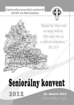 Seniorálny konvent 2012