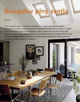 Bungalov plný svetla - Rodinné domy EUROLINE