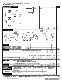 B 5 E A 4 3 C D - The Montreal Cognitive Assessment