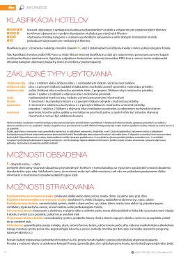 Všeobecné informácie z katalógu LETO 2014