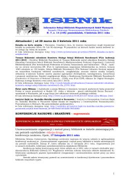 ISBNik_2011.04.04 - Biblioteka Wyższej Szkoły Biznesu