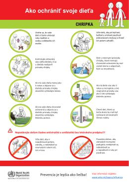 Ako ochrániť svoje dieťa – chrípka