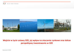 PEP SA- Prezentacja OZE