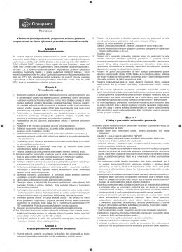 Groupama poisťovňa PZP všeobecné poistné