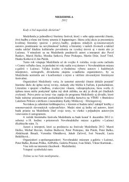 Medzihmla - info - Novohradské múzeum a galéria v Lučenci