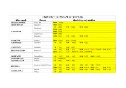 """Rozkład jazdy - ZŁOTORYJA - PKS """"TRANS"""