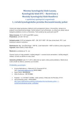 Miestny kynologický klub Lazany, Kynologický klub DTC