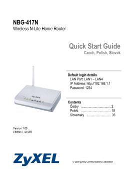 NBG-417N Quick Start Guide