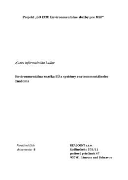 8. Environmentálna značka EÚ a systémy - Go