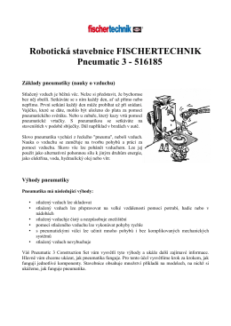 Robotická stavebnice FISCHERTECHNIK Pneumatic 3