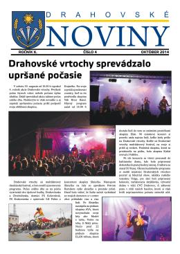 október 2014 - Obec DRAHOVCE