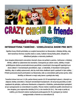 Crazy Chichi Show ponuka (PDF)