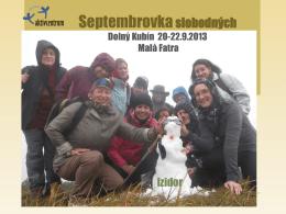 Víkendovka Dolný Kubín 26-28.10.2012