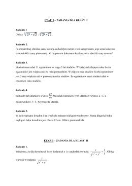 Zadania z konkursu matematycznego 2010/2011