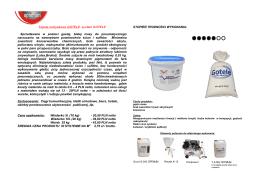 Tapeta natryskowa GOTELE system GOTELE Sprzedawana w