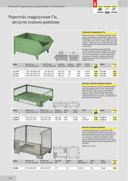 Pojemniki magazynowe, kompletacyjne i transportowe