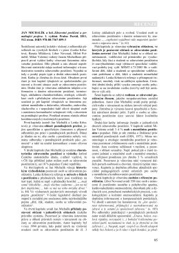 Fulltext (PDF) - Psychologie a její kontexty