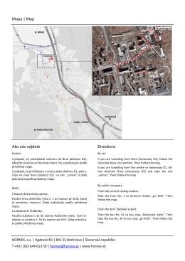 Mapa | Map Ako nás nájdete Directions