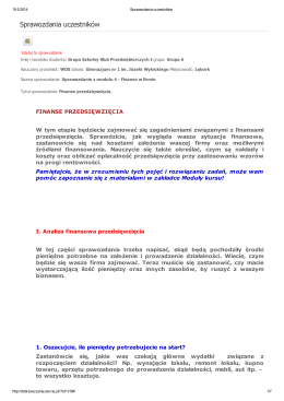 sprawozdanie z modułu 4