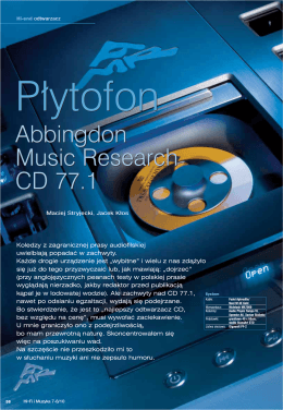 Abbingdon Music Research CD 77.1 Abbingdon Music