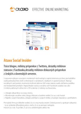 Ataxo Social Insider