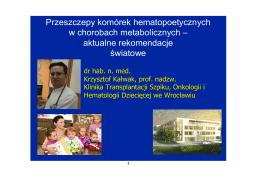 Prelekcja Krzysztof Kałwak