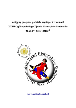 program - Uniwersytet Mikołaja Kopernika